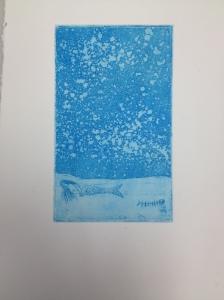 Intaglio etching, 2014.